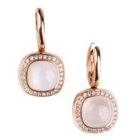 Kolczyki w różowym złocie z kamieniami księżycowymi