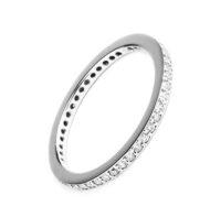 Pierścionek typu ring z brylantami