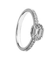 Pierścionek w białym złocie z diamentami