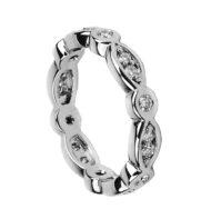 Pierścionek w białym złocie typu ring z brylantami